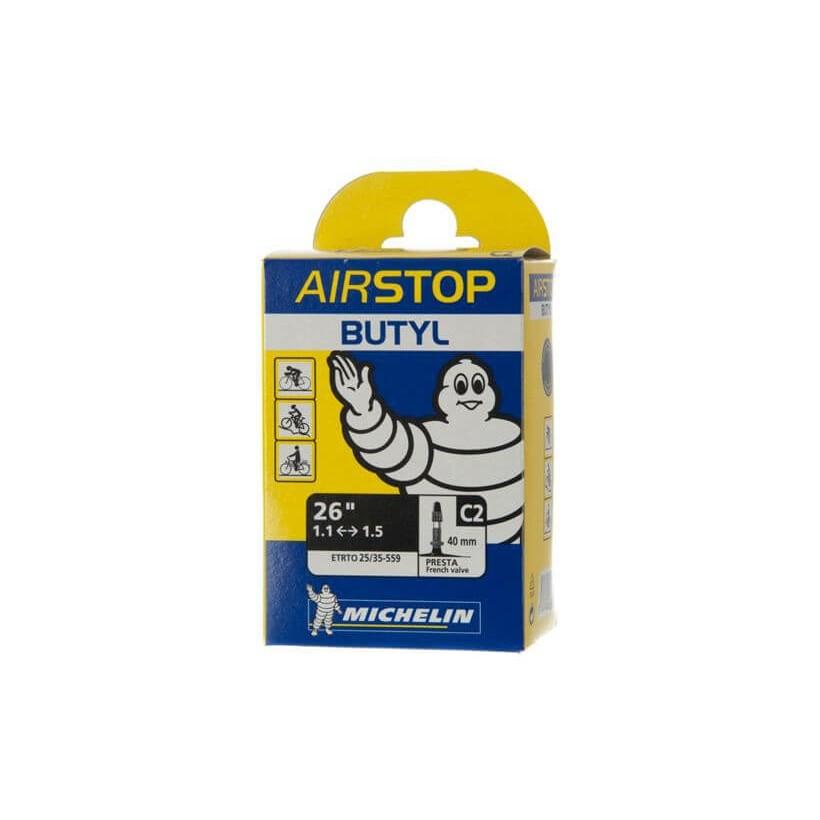 Cámara De AirStop Michelin butyl C2 26'' 1.1 - 1.5 Presta 40mm