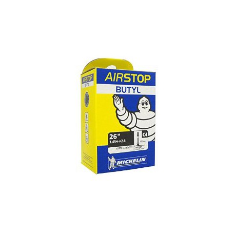 Cámara De AirStop Michelin butyl C4 26'' 1.45 - 2.6 Presta 40mm