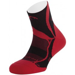 Calcetines Trail Running Non-Stop Lurbel Negro-Rojo
