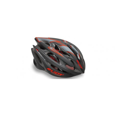 Casco Rudy Project-Sterling Negro-Rojo (Brillante)