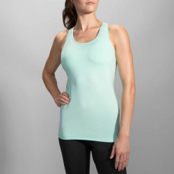 Camiseta Running Pick-Up Tank Azul Brooks Mujer