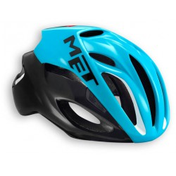 Casco Met Rivale color Negro Azul 2016