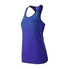 Camiseta de Tirantes Accelerate Tunic Graphic New Balance Azul Mujer
