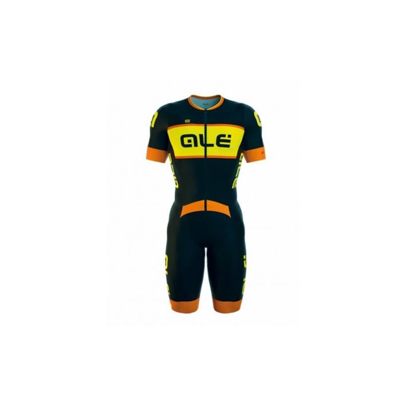 Body Alé MC Giro Roadster Negro,Naranja, Amarillo Fluo PV16 ciclismo