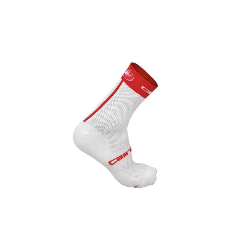 Calcetines FREE 9 blanco/rojo Castelli