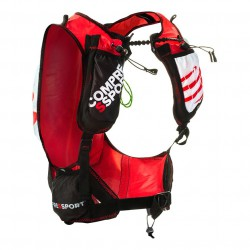 Chaleco de hidratación para mujer Compressport rojo/negro UltraRun BackPack Woman