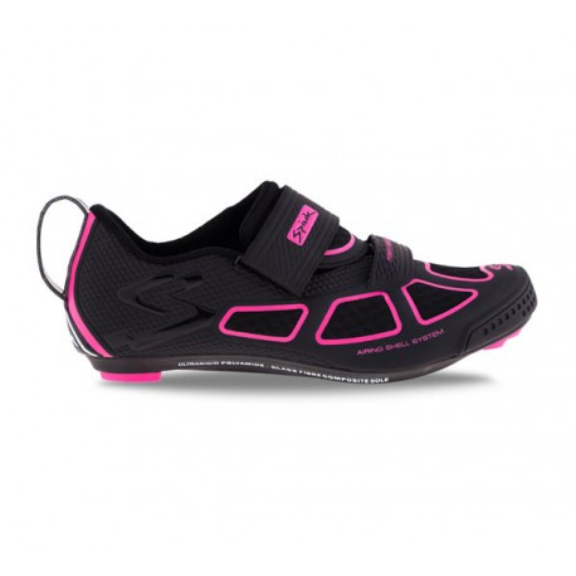 Zapatillas Spiuk Trivium negro y rosa mujer
