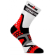 Calcetines Pro Racing Ultralight Ironman de Corte Alto Compressport Blanco