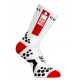 Calcetines largos Compressport Ironman Pro Racing Bike 2.1 Blancos