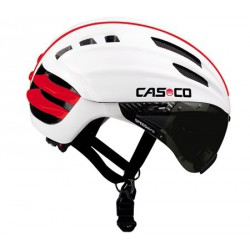 Casco Cas Co SPEEDairo Blanco Rojo