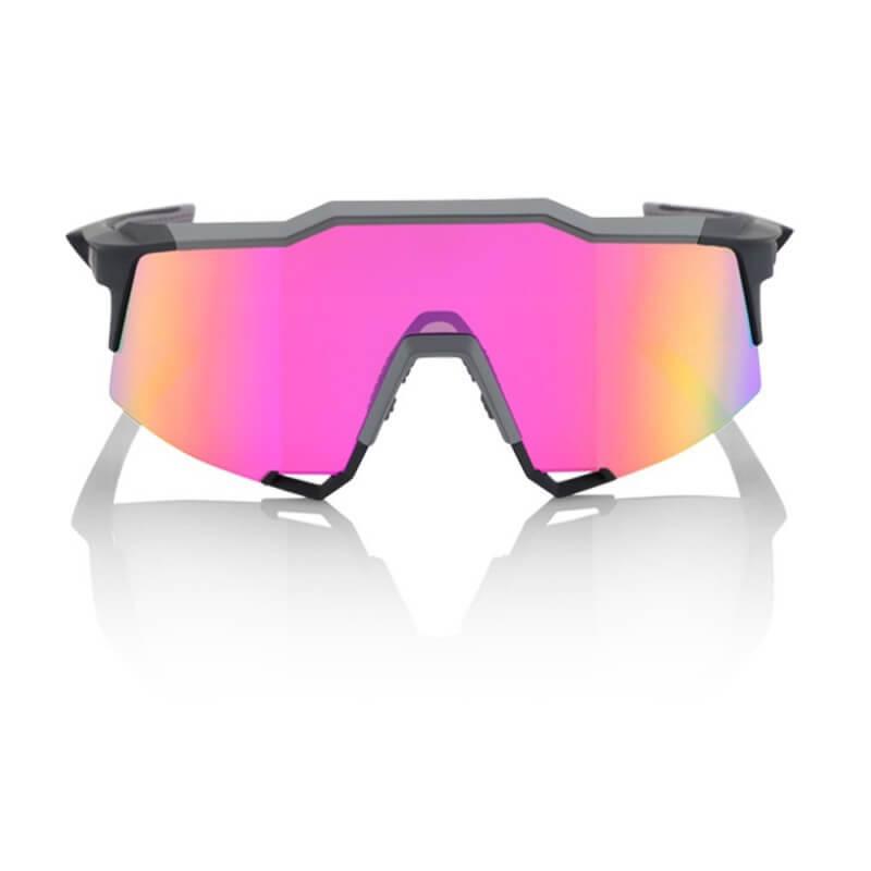 Gafas 100% Speedcraft Soft Tact Graphite LL (LENTE ESPEJO PÚRPURA MULTILAYER)