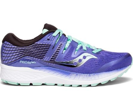 Saucony Ride ISO Azul Gris lila mujer OI18