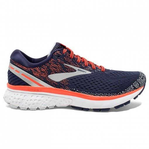 Brooks Ghost 11 Azul Navy Coral Gris PV19 Mujer